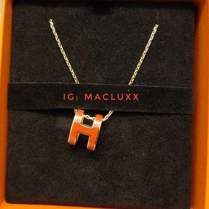 Hermes Pop H pendant - orange